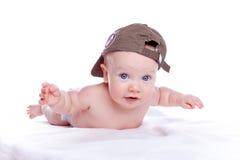 dziecka baseballa nakrętka szczęśliwa obraz royalty free