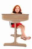 dziecka biurka uśmiechnięty uczeń Obrazy Royalty Free