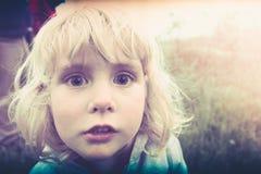 dziecka blondynów dziewczyna Obrazy Royalty Free