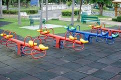 Dziecka boiska plenerowa zabawa obraz stock