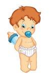 dziecka butelki dziecka samiec royalty ilustracja