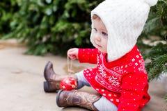dziecka butelki dziewczyna Obrazy Royalty Free