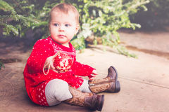 dziecka butelki dziewczyna Fotografia Royalty Free