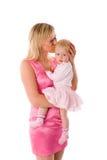 dziecka całowania matka Zdjęcie Royalty Free
