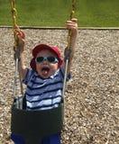 Dziecka chlanie w wiadrze Seat Fotografia Stock