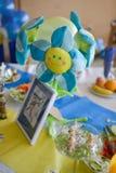 Dziecka chrzczenie i urodziny dekoracja Zdjęcie Stock