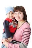 dziecka chwytów macierzysty ja target1741_0_ Obrazy Royalty Free