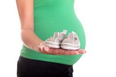 dziecka ciężarna butów kobieta Zdjęcie Royalty Free