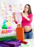 dziecka ciała mienia prysznic Obrazy Stock