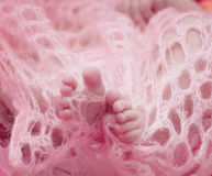 dziecka cieków dziewczyna nowonarodzona Fotografia Stock