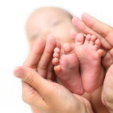 dziecka cieków ręk mammy s Obrazy Stock