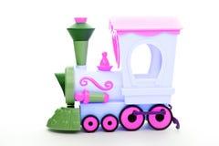 Dziecka colour zabawki pociągu studia plastikowa ilość Obraz Stock