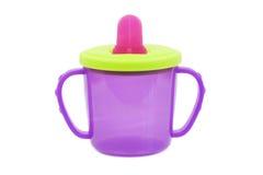 Dziecka cup- butelka Zdjęcia Stock