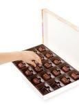 dziecka czekoladowy ręki zabranie Zdjęcie Royalty Free
