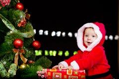 dziecka czerń kostium nad Santa Obrazy Stock