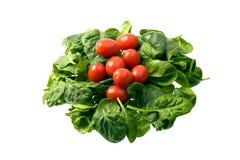 dziecka czereśniowi szpinaka pomidory Fotografia Royalty Free
