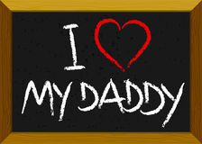 dziecka dzień ojca miłość s Obrazy Royalty Free