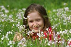 dziecka dziewczyny trawa Zdjęcie Royalty Free