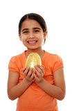 dziecka Easter jajko szczęśliwy fotografia royalty free