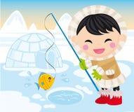 dziecka eskimo Zdjęcia Royalty Free