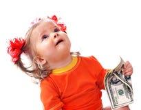 dziecka euro pieniądze Fotografia Royalty Free