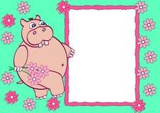 dziecka fotografii s szablon Obrazy Stock