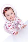 dziecka futerkowe hełmofonów menchie zdjęcia stock