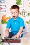dziecka gliniany lejni sztuka pokój Zdjęcie Stock