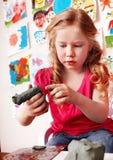 dziecka gliniany lejni sztuka preschooler pokój Obraz Royalty Free
