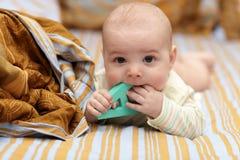 dziecka gryzienia list Zdjęcie Stock