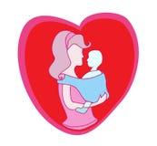 dziecka ikony matka Zdjęcia Royalty Free