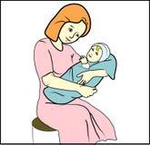 dziecka ilustraci matka royalty ilustracja