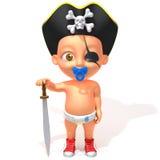 Dziecka Jake pirata 3d ilustracja Obraz Royalty Free