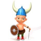 Dziecka Jake Viking 3d ilustracja Zdjęcie Stock