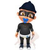 Dziecka Jake złodzieja 3d ilustracja Zdjęcie Royalty Free