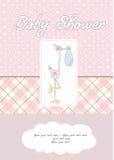 dziecka karciana dziewczyny prysznic Zdjęcia Stock