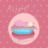 dziecka karciany dziewczyny poduszek target44_1_ Fotografia Stock