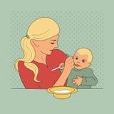 dziecka karmienie jej matka Obraz Stock