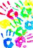 dziecka kolorowi ręki druki obraz stock