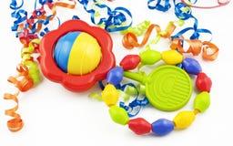 dziecka kolorowy brzęku pierścionku ząbkowanie Fotografia Royalty Free