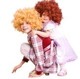 dziecka kostiumowa kędzierzawa lali grupa Obraz Stock