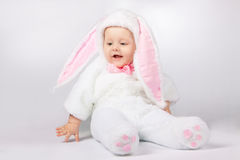 dziecka królika kostium Zdjęcie Royalty Free