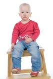 dziecka krzesła obsiadanie Fotografia Royalty Free