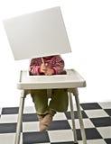 dziecka krzesła znak Zdjęcie Stock