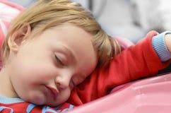 dziecka księżyc sen grać główna rolę kolor żółty Fotografia Stock