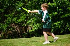 dziecka lacrosse bawić się Zdjęcia Stock