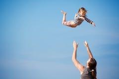 dziecka latanie Obrazy Royalty Free