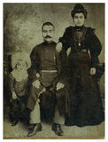 dziecka mężczyzna żona Obrazy Royalty Free