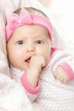 dziecka mały portreta cukierki bardzo Obraz Royalty Free