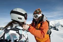 dziecka hełma zbawczy narciarstwo Obraz Royalty Free